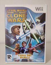 Wii STAR WARS THE CLONE WARS L'EROE DEI DUELLI ITALIANO OTTIMO + NINTENDO