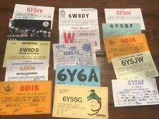 Ham Radio 15 Card Lot QSL Vintage 1970s Jamaica Bahamas Reggae Rare World