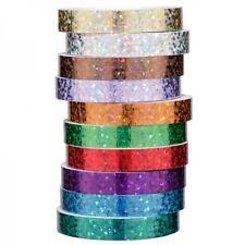 Deko-Klebeband, 10 Rollen, 8 mm breit, Holografiefolie  -  NEU - (Jittenmeier)