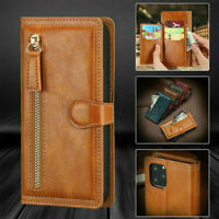 For iPhone 11 Pro Max XR 7 8 Plus Magnetic Flip Leather Zipper Wallet Case Cover