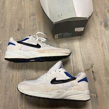 Vintage 1993 Nike Air Icarus White Regal Blue Black Men's Running Shoes 11/11.5