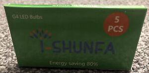 10x BOXs Of (5x G4 led bulb) 12v 20w Equiv Warm White 16 LEDs 220LM - Non Dim
