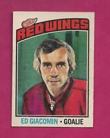 1976-77 OPC # 160 RED WINGS ED GIACOMIN  GOALIE EX-MT CARD (INV# 8588)