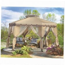 Gazebo Canopy Tent Outdoor Cover Pop Up Shelter Yard Bug Netting Shade 12 x 12
