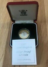 1997 Great Britain 2 Pounds Bimetallic Proof - New In Box with COA