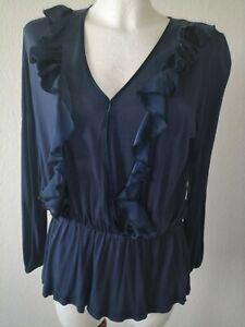 CONLEYS LYKKELIG Bluse, Tunika, Gr. S/M, 36/38, blau