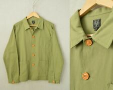 60s Style French Army Green Cotton Twill Canvas Chore Jacket - Various Sizes