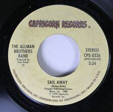 Rock 45 The Allman Brothers Band - Sail Away / Can'T Take It With You On Capri 9
