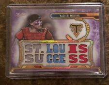 Yadier Molina Cardinals Triple Threads St. Louis Success Jersey Card! 25/27