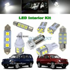 6x White LED Map Dome light interior Bulb package kit fit 2007-2017 Jeep Patriot