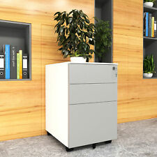 Yitahome 3 Drawer Mobile File Cabinet Homeoffice Storage With Keys Amp Wheels