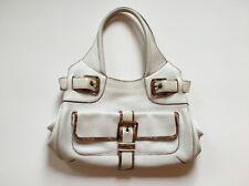 Dolce & Gabbana Luxury Leather Handbag White Gorgeous Bag Designer Label
