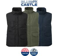 Mens Bodywarmer WAISTCOAT Jacket Gilet with Multi Pockets + Quilted Warm Lining