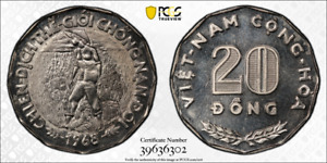 1968 S. Vietnam 20 Dong PCGS MS 67, F.A.O Witter Coin