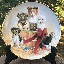 Franklin Mint Basket Of Cheer Collector Plates Aspca Dogs Puppies James Killen