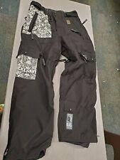 NWOT Grenade Fatigue Project Men's Cargo Ski Snow Black Snowboard Pants extra sm
