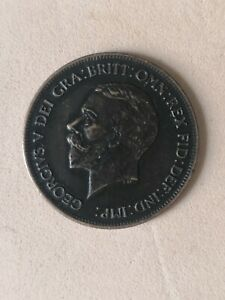 Coin one penny 1933 Britain George V