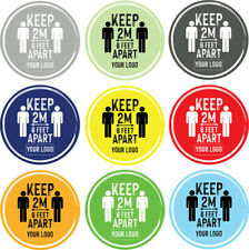 Social Distancing Floor Sticker/Decals - Anti Slip, Custom Logo, Keep 2m Apart