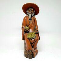 "Vintage Asian Man Sitting 9"" Tall Ceramic Figurine 1975"