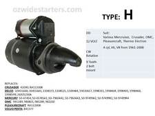 Mercruiser starter motor. suit many V8 from 1961- 2008 including OMC, Crusader