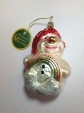 *NEW* Inge-Glas German Christmas Tree Ornament - Rainbow Snowman - 1-838-01