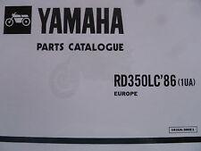 YAMAHA RD 350 LC N2 1UA PARTS LIST MANUAL CATALOGUE RZ350 not F2 YPVS paper copy