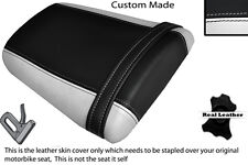 Blanco & Negro Custom encaja Honda Cbr 600 Rr5 rr6 05-06 Trasera de piel cubierta de asiento