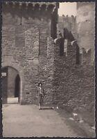 YZ1064 Scorcio del Castello di Issogne - Fotografia d'epoca - 1966 old photo