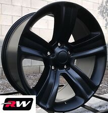"Dodge Ram 1500 Wheels Satin Black Rims 20"" inch 20x9"" 5x5.50"" 5x139.7mm +18 mm"
