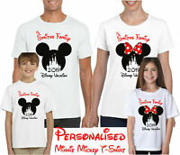Personalised Minnie Mickey Mouse Disney Vacation T-Shirt, Kids & Adults Tee Top