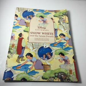 Disney Giftwraps Snow White  gift wrap book with Tear Out Sheets