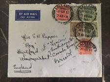 1937 Lallaguda Egypt Cover To Bristol England