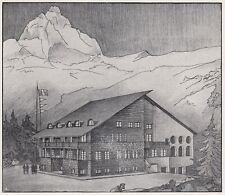 D8442 Funivia del Breuil - La stazione di Museroches - Stampa - 1936 old print