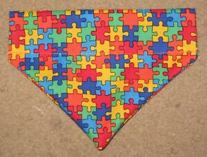 Autism Awareness Dog Bandana - 5 sizes XS - XL