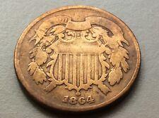 1864  2-Cent Civil War Coin