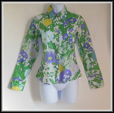United Colors of Benetton femme à manches longues Floral Shirt Top UK 6 EUR 34