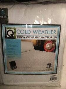 Living Quarters Queen quilted electric DIGITAL heated mattress pad Cold Weather