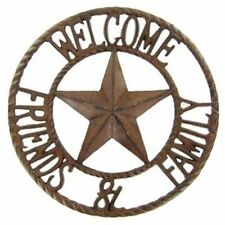 Cast Iron Welcome Friends & Family Sign Rustic cabin barn western wall decor