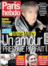 PARIS HEBDO N° 1 . SEPT / OCT 2016 . MIMIE MATHY / JOHNNY / GAYET / MARCEAU /