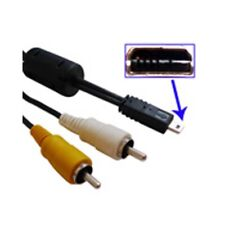 AV Audio Visual Lead Cable For Panasonic Lumix DMC-FZ50 FZ7 LS1 LS2