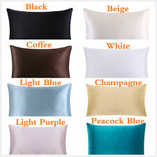 New 100% Mulberry Silk Zipper Pillowcase Pillow Cover Fit Queen Standard King