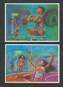 Nevis - 1992, Olympische Spiele, Barcelona Blätter X 2 - MNH - Sg MS668