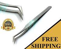 Professional False Eyelashes Tweezer Extension Eye Lashes Tools Stainless Steel