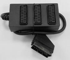 Scartadapter Scartsplitter 1 auf 3 TV TVT DVD Playstation Recorder
