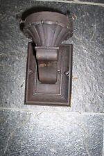 Vintage Ornate Cast Iron Wall Lighting Fixture W/Porcelain Socket Orig.Wiring