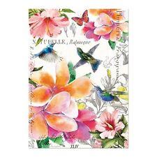 Michel Design Works Cotton Kitchen Tea Towel Paradise Tropical Birds Floral  NEW