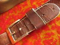 34 MEDIUM True Vintage 70s Hippie Leather Relic Patina Cowhide Belt