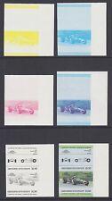 St.Vincent Grenadines Sc 442//451 MNH. 1985 British Autos, Progressive Proofs