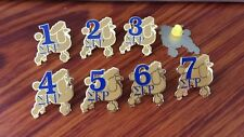 Sigma Gamma Rho Line Number Lapel Pin ( numbers 1-7 available--Specify #)