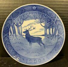 "1960 Royal Copenhagen Christmas Plate ""The Stag "" Made in Denmark"